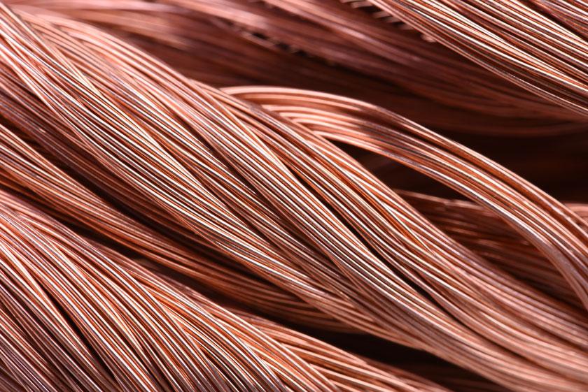 Swirl of copper wire